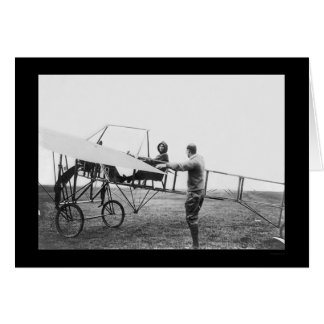Harriet Quimby in her Airplane 1911 Cards