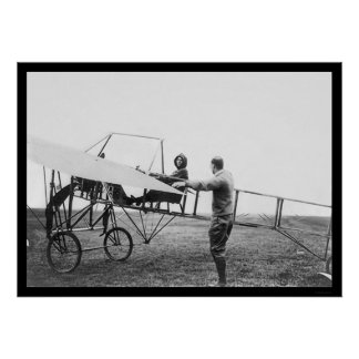 Harriet Quimby in Her Airplane 1911 Print