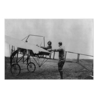 Harriet Quimby in Her Airplane Photograph Poster