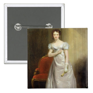 Harriet Smithson (1800-54) as Miss Dorillon, c.182 2 Inch Square Button