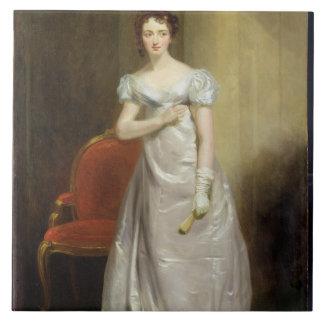 Harriet Smithson (1800-54) as Miss Dorillon, c.182 Large Square Tile
