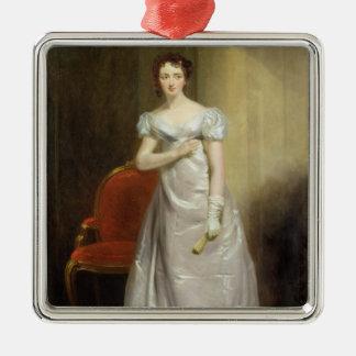 Harriet Smithson (1800-54) como Srta. Dorillon, Adorno Navideño Cuadrado De Metal