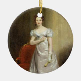 Harriet Smithson (1800-54) como Srta. Dorillon, Adorno Navideño Redondo De Cerámica
