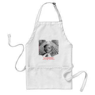 """Harriet Tubman & """"Hold Steady Lord"""" Quote Adult Apron"""
