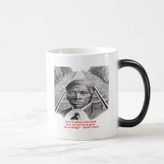 "Harriet Tubman & ""Hold Steady Lord"" Quote Magic Mug"