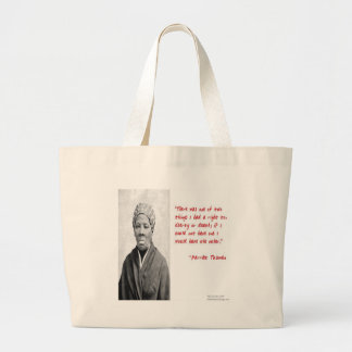 """Harriet Tubman """"Liberty Or Death"""" Quote Gifts Large Tote Bag"""