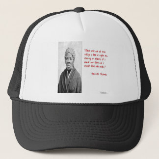 """Harriet Tubman """"Liberty Or Death"""" Quote Gifts Trucker Hat"""