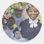 Harriet Tubman Pegatina Redonda