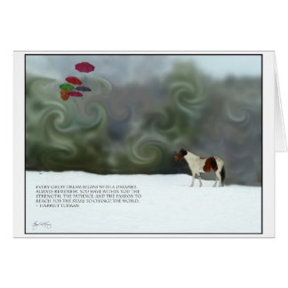 Harriet Tubman Pinto Dreams Poster Card