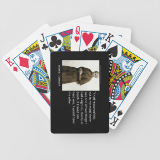 Harriet Tubman Quote Bicycle Playing Cards