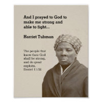 HARRIET TUBMAN Quote Custom Scripture Motivational Poster