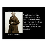 Harriet Tubman Quote Postcard