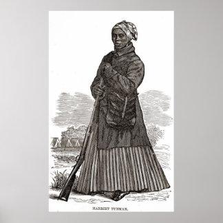Harriet Tubman Woodcut Poster
