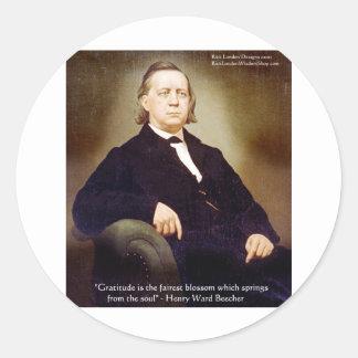Harriet Ward Beecher Gratitude Quote Wisdom Gifts Stickers