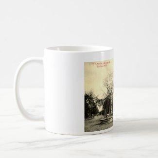 Harriman Monument, Goshen NY 1916 Vintage mug