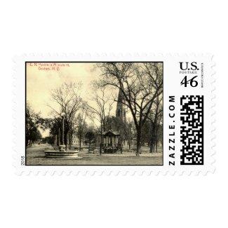 Harriman Monument, Goshen NY 1916 Vintage stamp