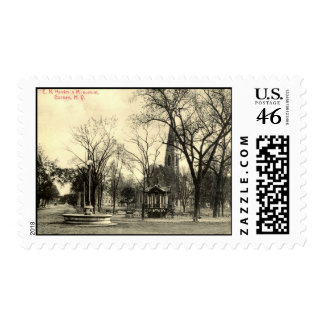 Harriman Monument Goshen NY 1916 Vintage Stamps