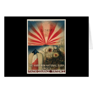 Harriman National Bank Faith Courage Patience Card