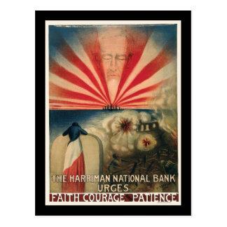 Harriman National Bank Faith Courage Patience Postcard