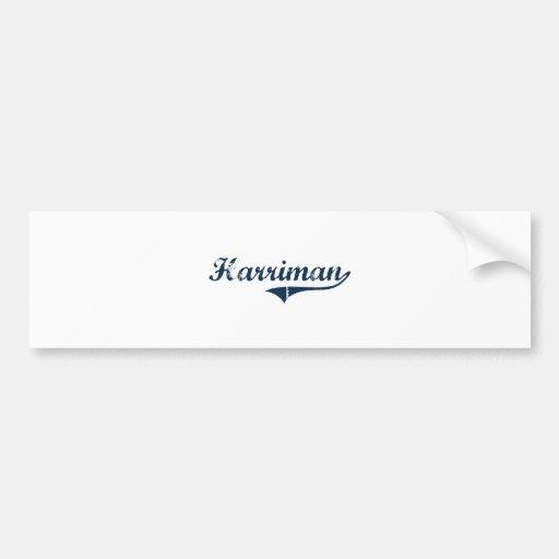 Harriman New York Classic Design Car Bumper Sticker