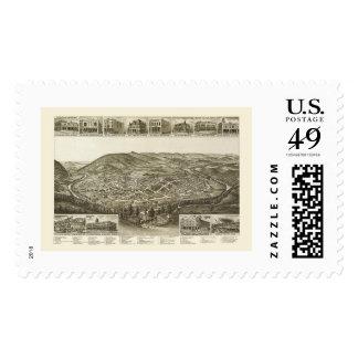 Harriman, TN Panoramic Map - 1892 Postage Stamp