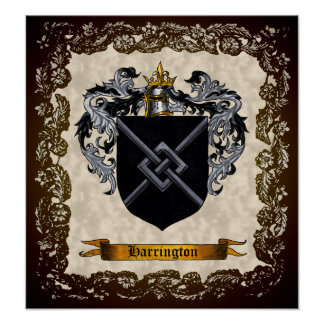 Harrington Coat of Arms Poster