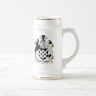 Harrington Family Crest Beer Stein