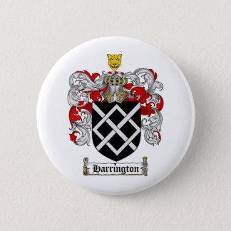HARRINGTON FAMILY CREST -  HARRINGTON COAT OF ARMS PINBACK BUTTON