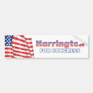 Harrington for Congress Patriotic American Flag Bumper Sticker