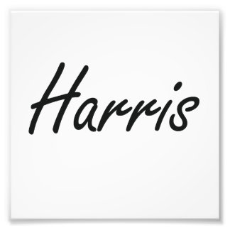 Harris Artistic Name Design Photo Print