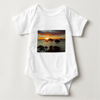Harris Beach, sunset, Brookings, OR, the USA Baby Bodysuit