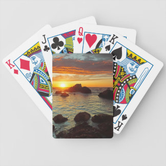Harris Beach, sunset, Brookings, OR, the USA Bicycle Playing Cards