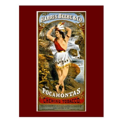 Harris, Beebe, & Co. -  Pocahontas Chewing Tobacco Postcard