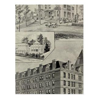 Harris Bldg, New London, Conn Postcard