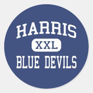 Harris Blue Devils Middle Spruce Pine Classic Round Sticker