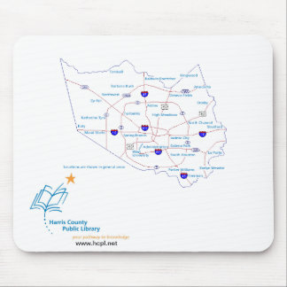 Harris County Public Library locations Mouse Pad