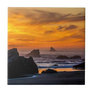 Harris de oro vara la puesta del sol - Oregon Azulejo Cuadrado Pequeño