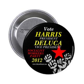 Harris-DeLuca 2012 Pinback Button