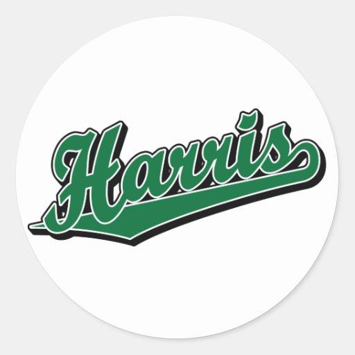 Harris en verde etiquetas redondas