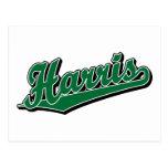 Harris en verde postales