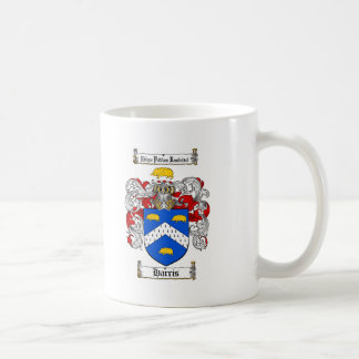 HARRIS FAMILY CREST -  HARRIS COAT OF ARMS CLASSIC WHITE COFFEE MUG
