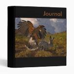 Harris Hawk and Jackrabbit - acrylic Binders