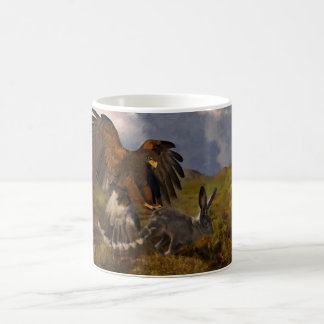 Harris Hawk and Jackrabbit - acrylic Classic White Coffee Mug