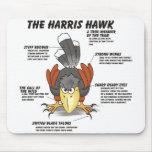 Harris Hawk Cartoon Mouse Pad