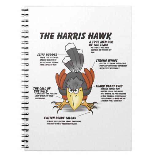 Harris Hawk Cartoon Notebook