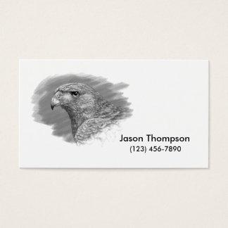 Harris Hawk Drawing Business Card