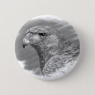 Harris Hawk Drawing Button