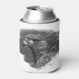 Harris Hawk Drawing Can Cooler