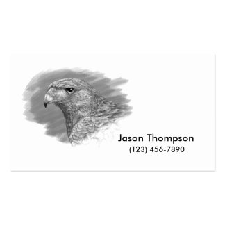 Harris Hawk Drawing Double-Sided Standard Business Cards (Pack Of 100)
