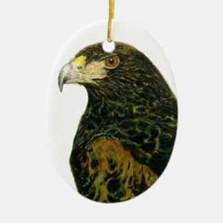 Harris Hawk el ornamento oval Adorno Navideño Ovalado De Cerámica